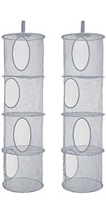 2 packs mesh hanging storage