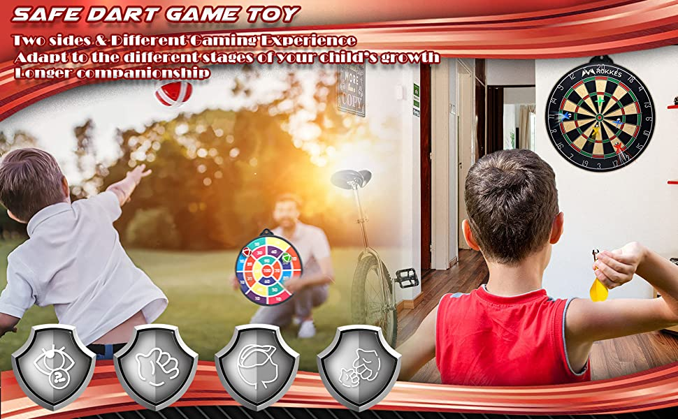 Magnetic Dart Board For Kids - Double Sided Dart Board kit for Kids and Adult