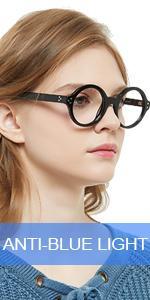 OCCI CHIARI Nerd Reading Glasses for Women 2.5 Blue Light filter Reader for lady