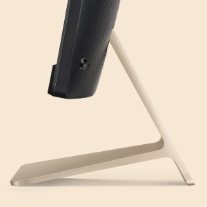 Brushed aluminium stand