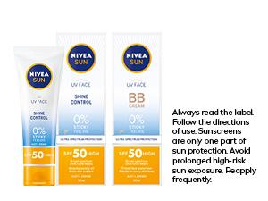sunscreen, face sunscreen, sun cream, sun protection, spf, spf50, uva uvb protection, nivea