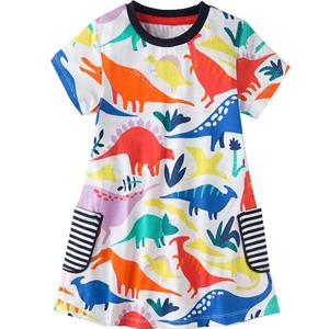 Girls Dinosaur Skirt Dress