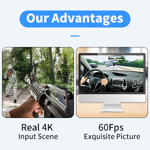 1080P 60FPS Video Recorder Capture Device Converter with Mic Input & Audio Output