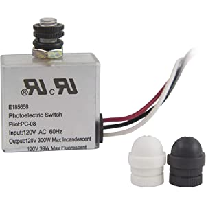 Solus PC-08-KIT 120V Automatic Dusk to Dawn Photocell Switch