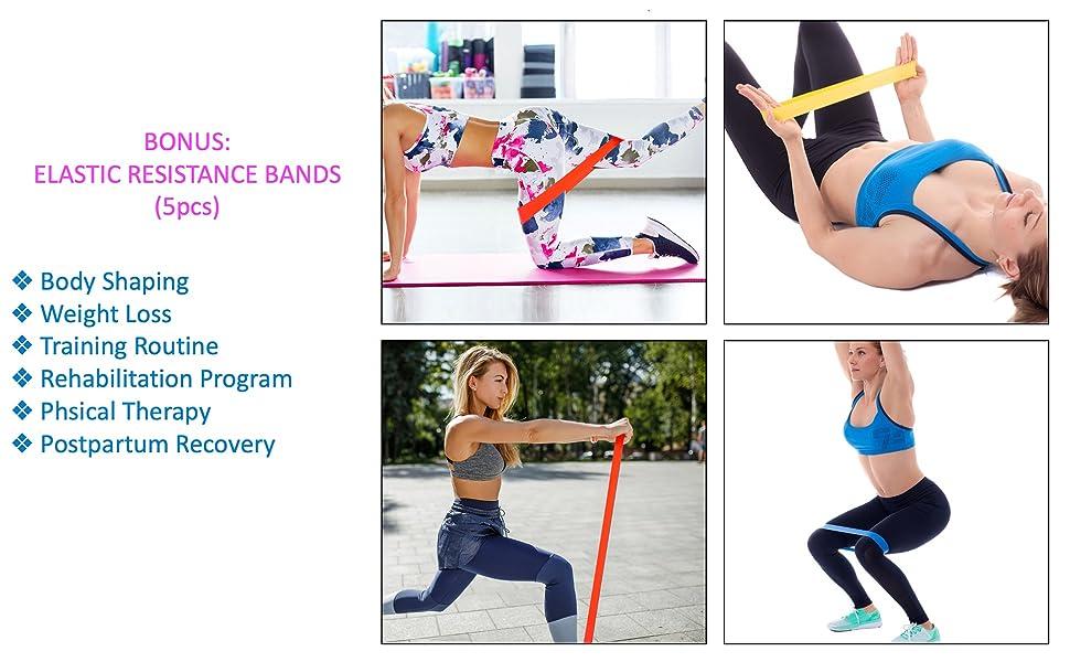 Elastic Resistance Band Fitness Yoga Pilates