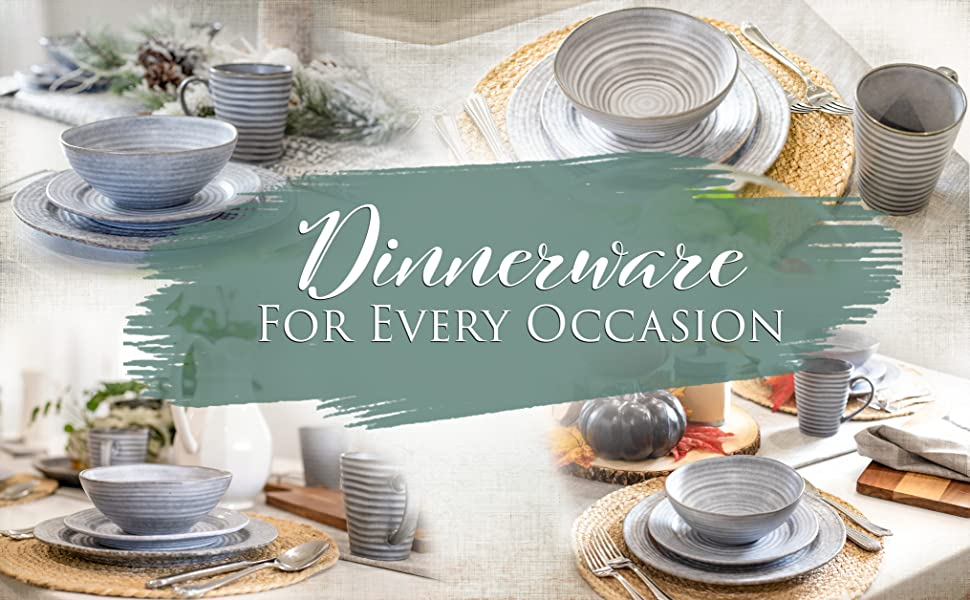 kitchen dishware modern, chic and rustic designs with a ribbed textured edge