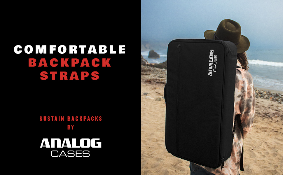 SUSTAIN Backpacks by Analog Cases. Comfortable Backpack Straps.