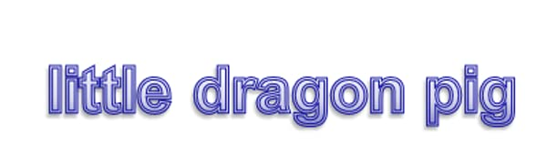 little dragon pig