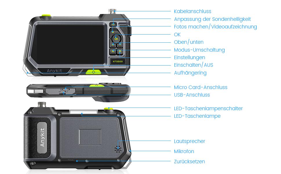 endoskopkamera mit licht
