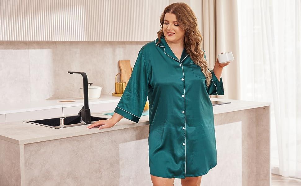 plus size Satin Nightgown