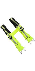 Firefighter Pant Suspenders Fire/Rescue Quick Adjust Suspenders with Reflective Strip