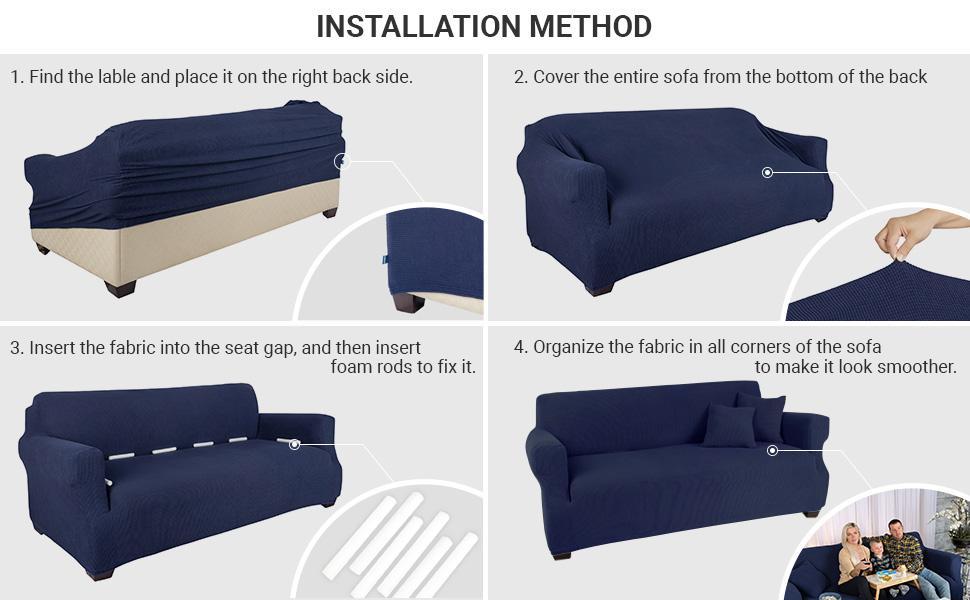 沙发套的安装方法