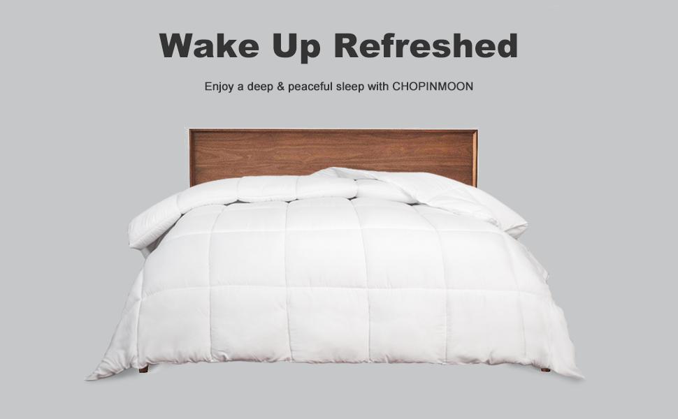 chopinmoon white comforter-wake up refreshed