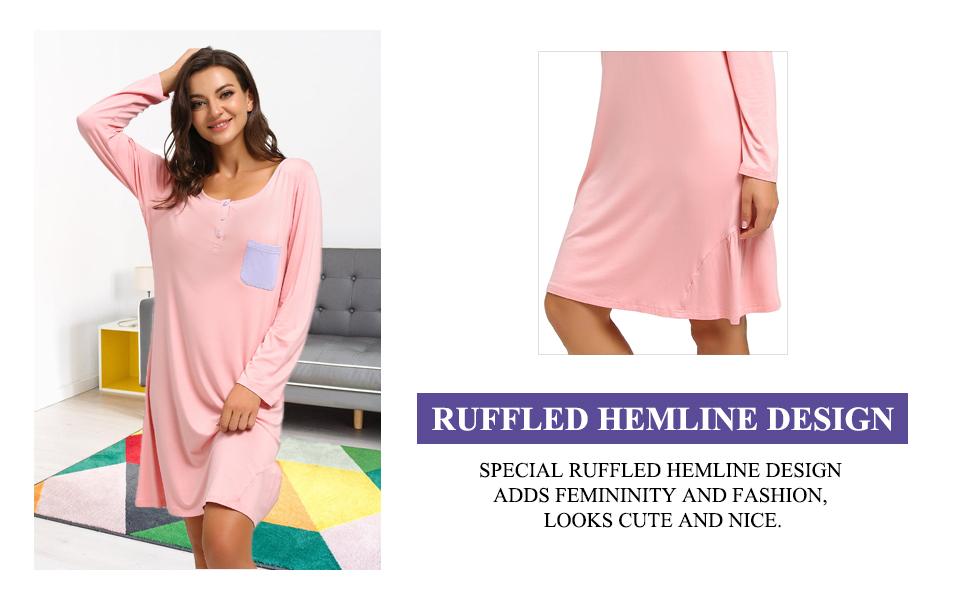 ruffled hemline design
