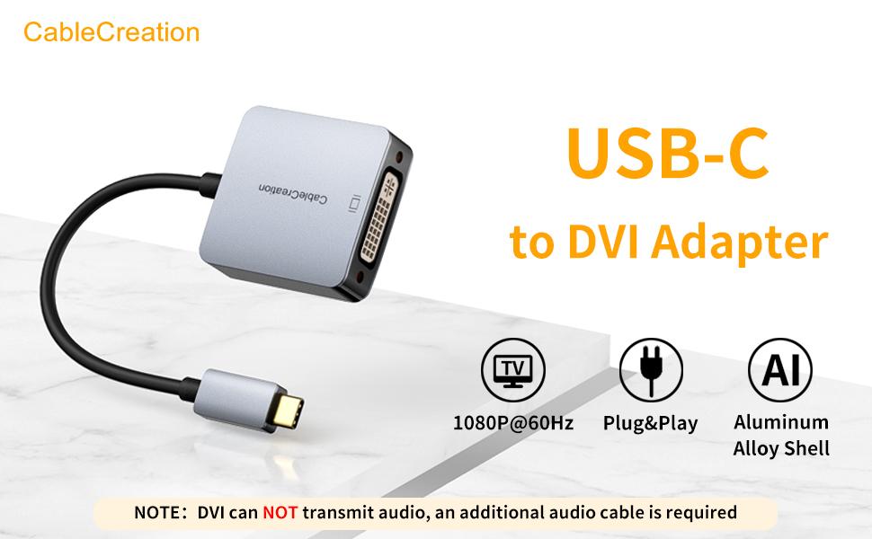 USB C to DVI adapter