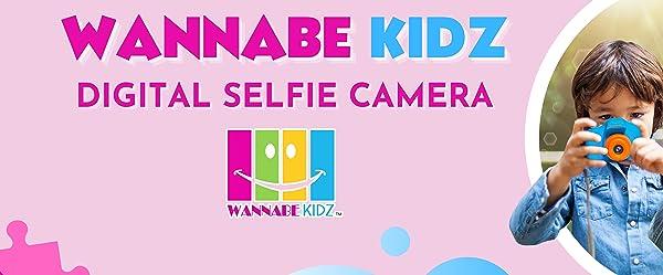 WannabeKidz SELFIE camera sophisticated safe technology to enhance your kids skills and development