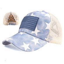 blue star mesh hat