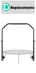 rebounder trampoline with handle bar