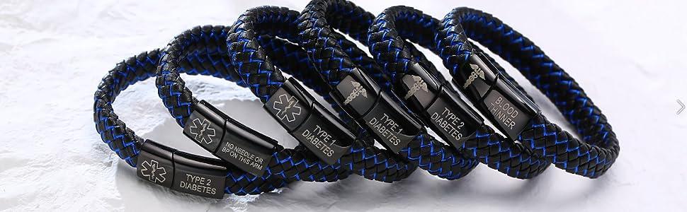 medical bracelet for men