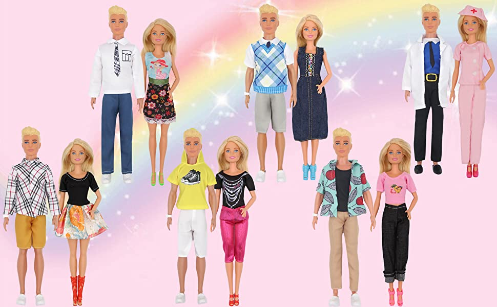 doll clorhes with Veterinary clothes sweetheart outfits dress shirt jeans pants pet care
