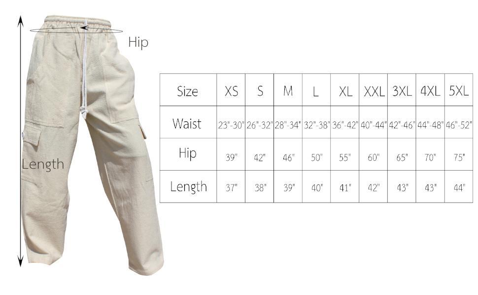 Cargo Pant Measurements