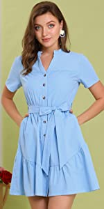 B08NSQTZ7J Cotton Shirt Dress