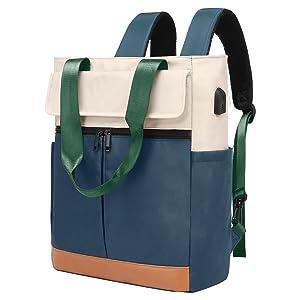 Wide Top Open College School Travel Casual Bag