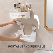 Adjustable shower organizer
