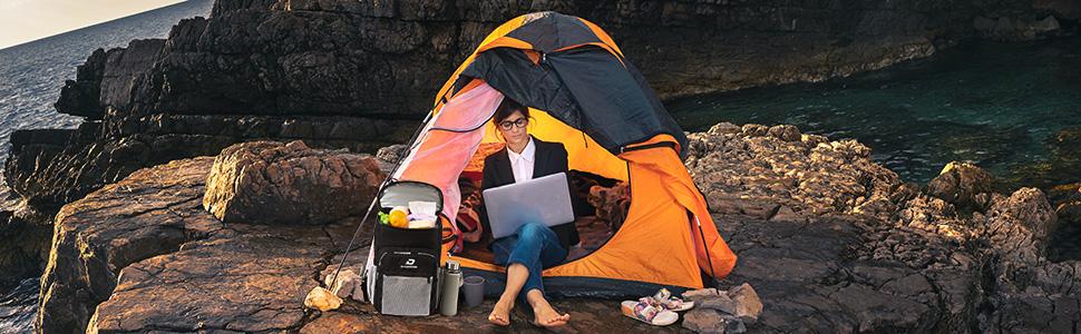 camping with DAUSROOB cooler bag