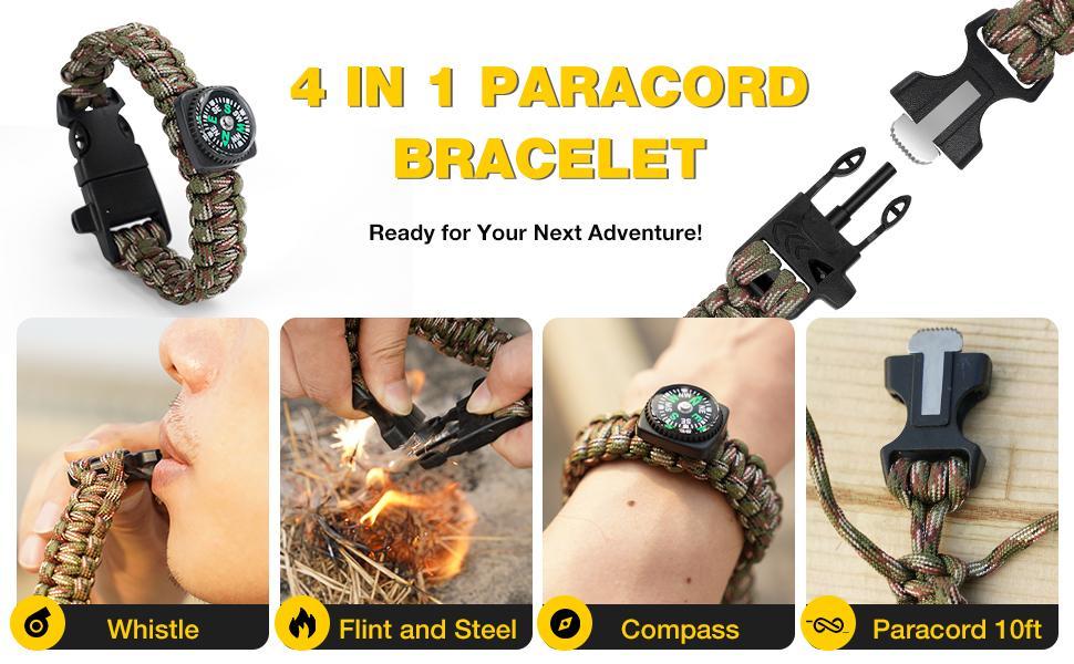 Paracord bracelet 4 IN 1