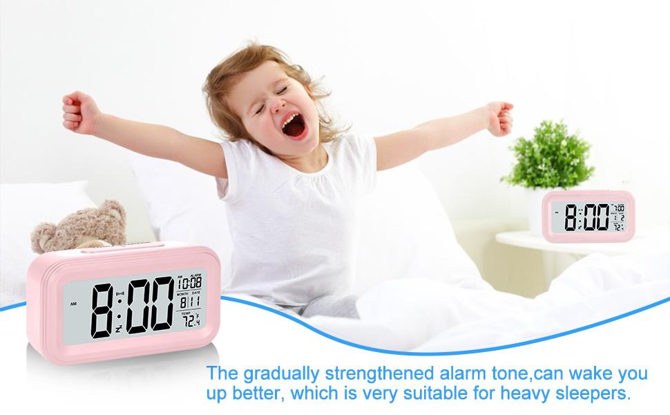 Girl Alarm clock Pink