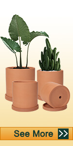 4pcs assorted size cylinder clay pot