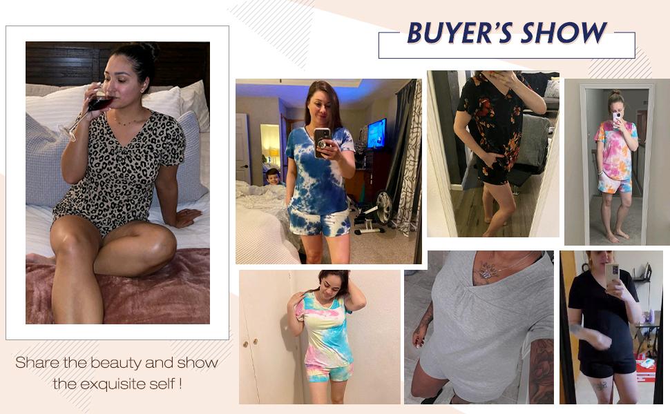 short pajamas for women