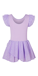 Girls Ballet Dance Leotards Camisole Tutu Dress with Skirt Ballerina Outfit 3-9 Years