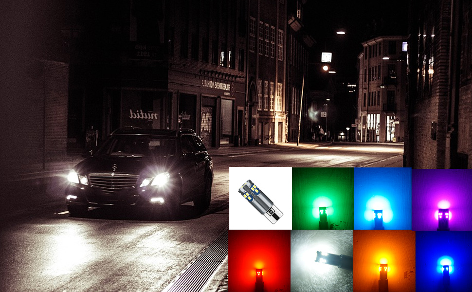 T10 Led Bulb W5W 194 168 175 2825 921 18-SMD Chips 12V for Car Auto Interior Door Dome
