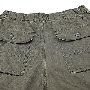 Mens Cargo Shorts 3/4 Shorts Long Casual Work Utility Below Knee Cropped Army Capri Shorts for Men