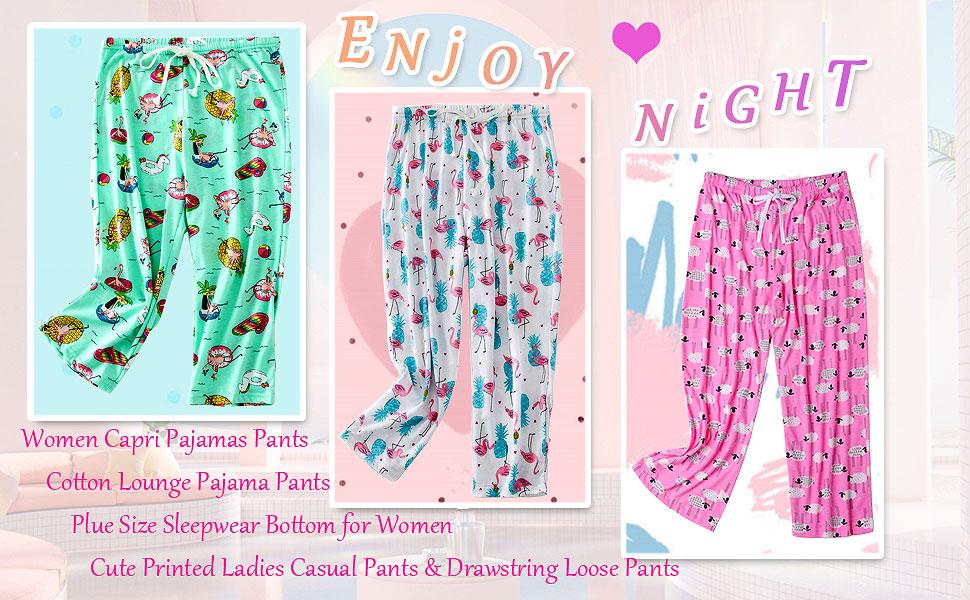women capri pajamas bottom