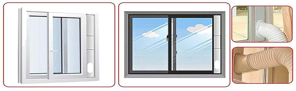 portable air conditioner vent hose window dryer vent kit adjustable air conditioner vent