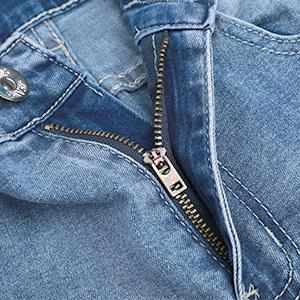 Men Vintage Skinny Moto Biker Jeans Stretch Ripped Patch Jeans Straight Denim Pants