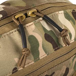 Tactical backpack Classic double zipper closure,