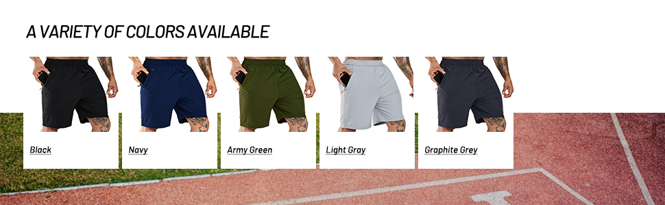 Mens running short color