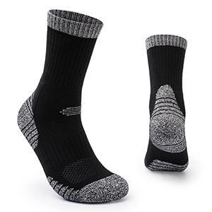 5 Pairs Men's Athletic Socks Crew Work Socks Breathable Wicking Cotton Socks