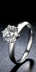 moissanite classic ring