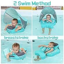 Add Tail Newest Mambobaby Baby Swim Float