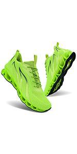 neon green men shoes