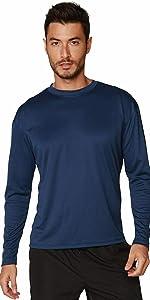 Men's UPF 50+ UV Sun Protection Performance Long Sleeve T-Shirt running surfing swimming