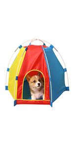 Washable Easy Install Portable Tent Pet Teepee for Dogs Portable Pet Tent Dog Houses