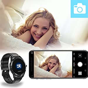 hamshine fitness watch for men women, can be used as a remote shutter of your phone camera