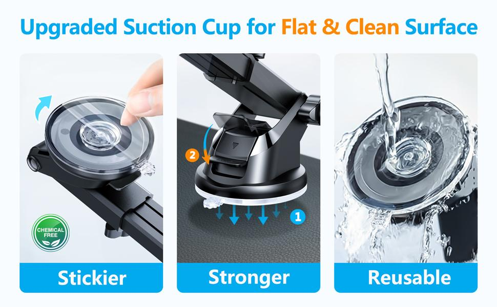 cutting edge strong & stylish sticky suction cup