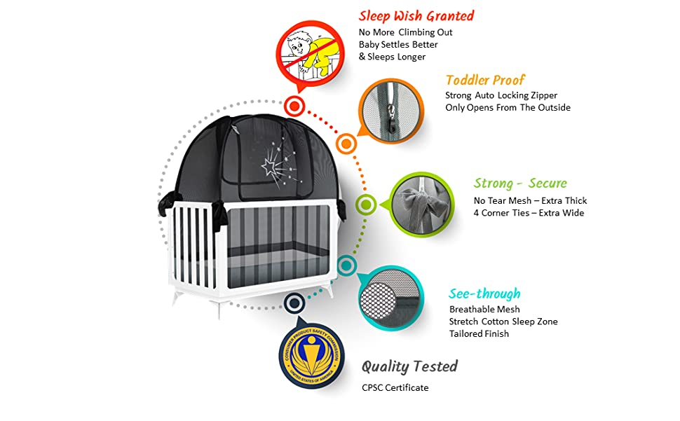 crib tent to keep toddler in the crib no climbing out